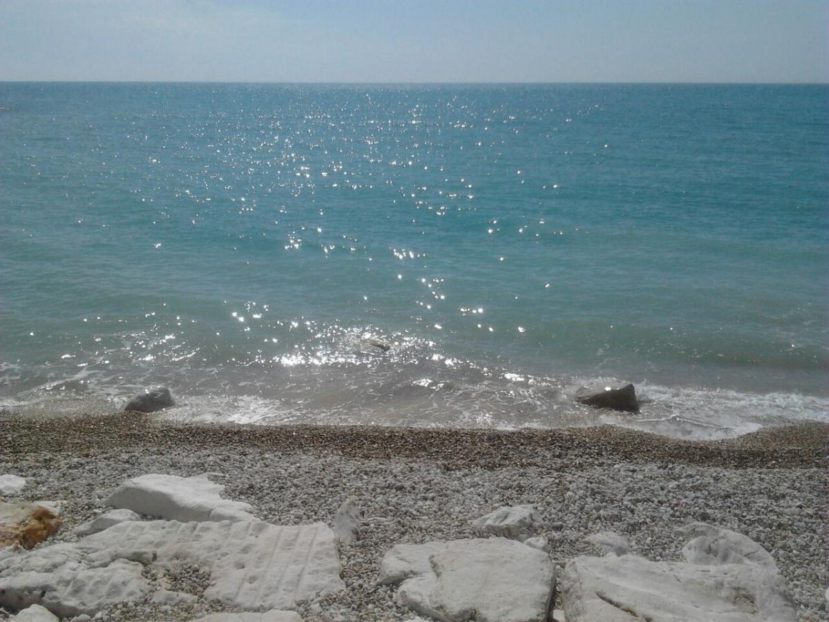 Spiaggia antistante la sosta camper