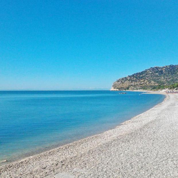 la spiaggia del B&B Aulìv